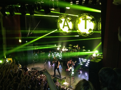 all time low rocking out in London